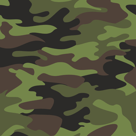 black olive: Camouflage pattern background seamless vector illustration. Classic clothing style masking camo repeat print. Green brown black olive colors forest texture