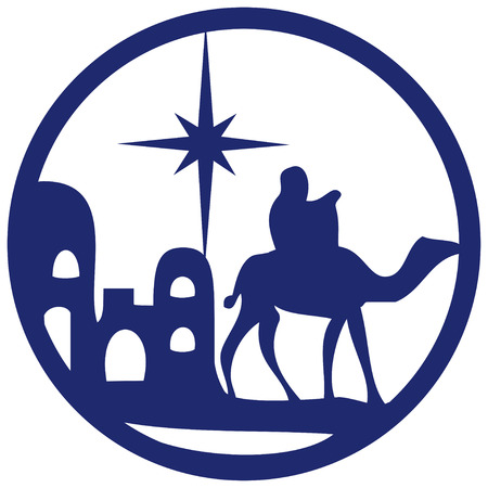 Adoration of the Magi silhouette icon