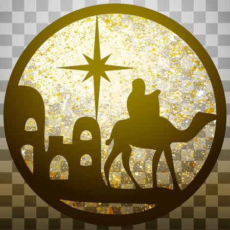 Adoration of the Magi silhouette icon
