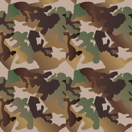 Camouflage patroon achtergrond kleding print, herhaalbare camo glamour vector. Olijf, bruin, grijs