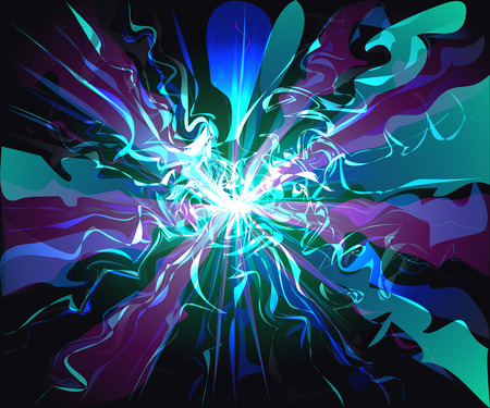 Unusual galaxy glassy waves futuristic virtual technology vector Illustration