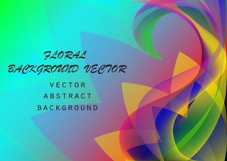 Abstract colorful elegant waves floral pattern print, copy space background, can be used for wallpaper, template, banner, poster, brochure, leaflet, flyer, backdrop, book cover, vector illustration Illustration