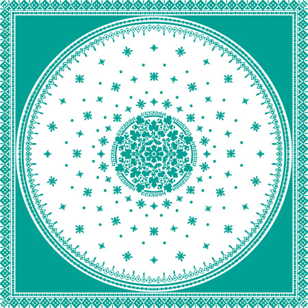 byzantine: Victorian floral paisley medallion ornamental rug vector. Ethnic mandala towel frame. Vintage flower tile. Textile, greeting business card, coloring book, phone case print