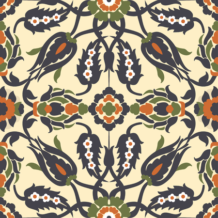 victorian wallpaper: Arabesque vintage decor floral ornate seamless element for design template vector. Oriental style pattern. Flowers decoration print. Ornamental illustration for invitation, greeting card, background