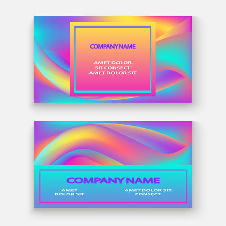Fluid shapes. Wavy liquid background. Bright abstract backdrop concept. Trendy gradient waves design set template vector Poster Layout Magazine Flyer Banner Brochure Cover 일러스트