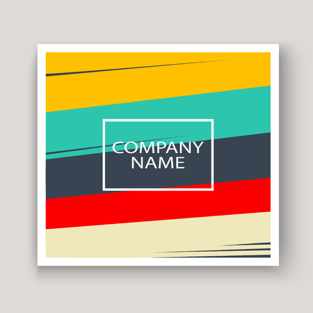 Minimal modern cover design. Dynamic colorful gradients flat colors in retro 90s style. Future geometric patterns lines. Trendy minimalist poster template vector background for business Foto de archivo - 123072875