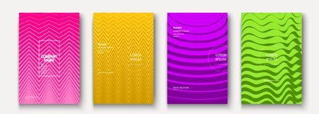 Minimalist modern cover collection design. Dynamic colorful halftone gradients. Future geometric patterns wave and zigzag vector background. Trendy minimalist poster template for business, web