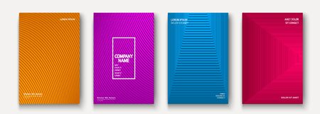 Minimalist modern cover collection design. Dynamic colorful halftone gradients. Future geometric patterns lines vector background. Trendy minimalist poster template for business, web Иллюстрация