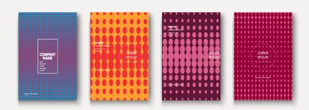 Minimalist modern cover collection design. Dynamic colorful halftone gradients. Future geometric patterns dots vector background. Trendy minimalist poster template for business, web Иллюстрация