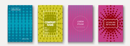 Minimalist modern cover collection design. Dynamic colorful halftone gradients. Future geometric patterns polka dots vector background. Trendy minimalist poster template for business, web