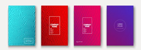 Minimalist modern cover collection design. Dynamic colorful halftone gradients. Future geometric patterns waves lines vector background. Trendy minimalist poster template for business, web Иллюстрация