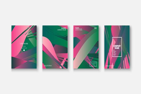 Modern business geometric template banner for design. Social media network concept. Promotion poster background. Creative stories set. Abstract vector illustration. Trendy gradient neon colors Standard-Bild - 134629150