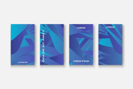 Modern business geometric template banner for design. Social media network concept. Promotion poster background. Creative stories set. Abstract vector illustration. Trendy gradient neon colors Standard-Bild - 134629170