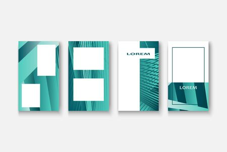 Modern business geometric template banner for design. Social media network concept. Promotion poster background. Creative stories set. Abstract vector illustration. Trendy gradient neon colors Standard-Bild - 134629176