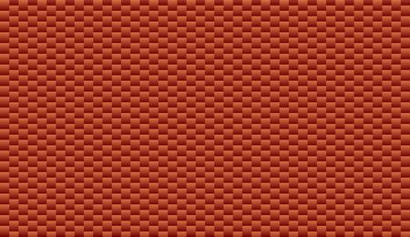 Red brick plastic texture repeat carbon, block geometric seamless virtual background for online conferences, online transmissions. Abstract design vector illustration Vectores