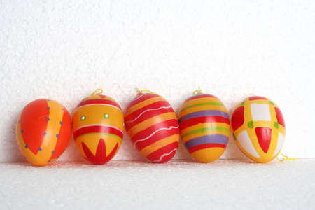 eastertime: decaorative easter eggs, aligned and isolated
