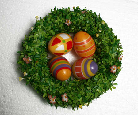 eastertime: easter decoration isolated on white Stock Photo