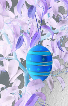 edited foto of a hanging egg photo