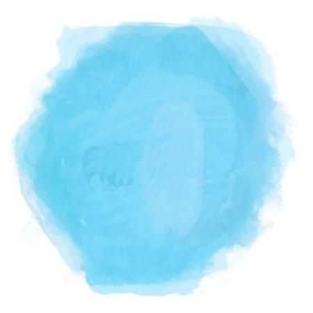 watercolor blue splash. Abstract cyan blot background. Sea, tropical ocean, lagoon element. Design element. Azure blob Ilustrace