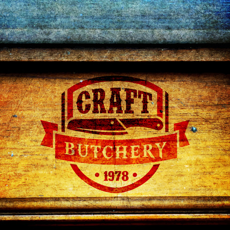 Vector logo template of butchery or meat shop