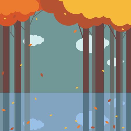 Autumn landscape  イラスト・ベクター素材