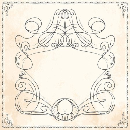 Vector Doodle Sketch Hand Drawn Frame Border Template For Greeting