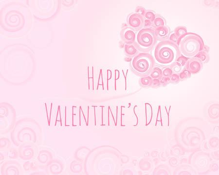 Tarjeta del día de San Valentín feliz