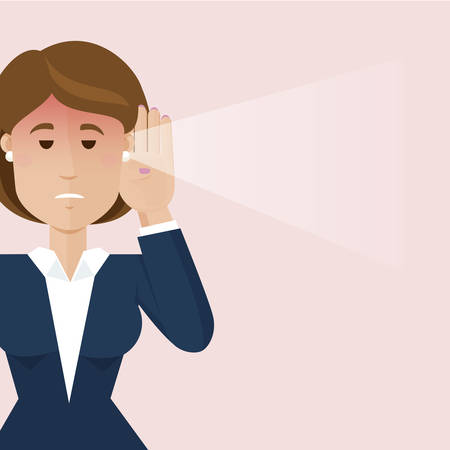 bad news: The business woman hear a bad news