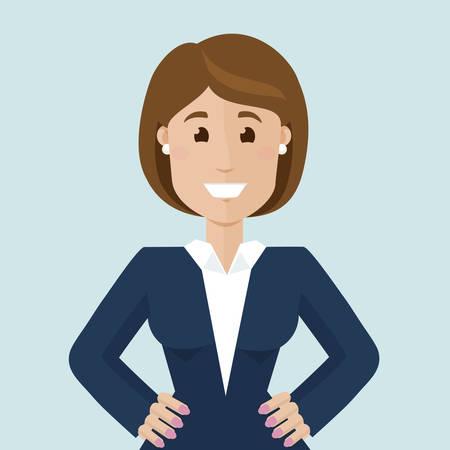 happy business woman: Happy business woman