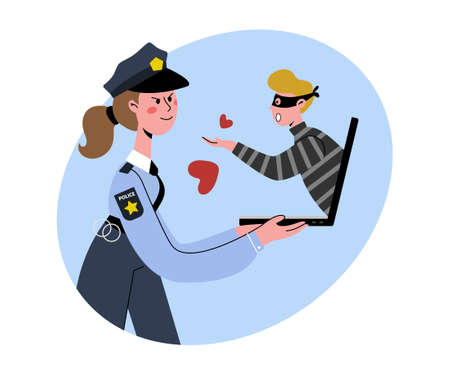 Internet dating. A policewoman works undercover. Reveals the decept.
