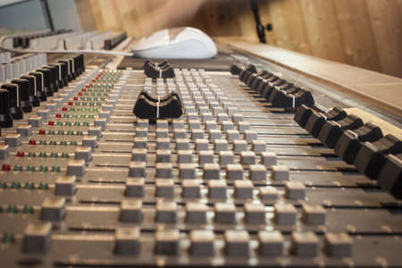 Digital sound mixing console Stock Photo