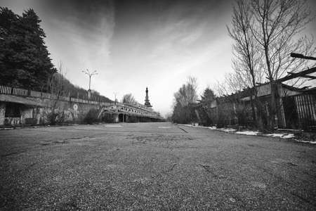 ghost town: Consonno, Lecco. A ghost town Stock Photo