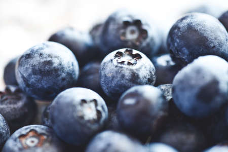 Blueberries - versy shall depth of field Stock Photo