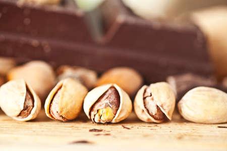 pistachio nut and chocolate