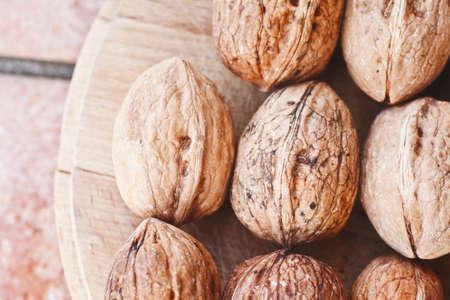Fresh walnuts background