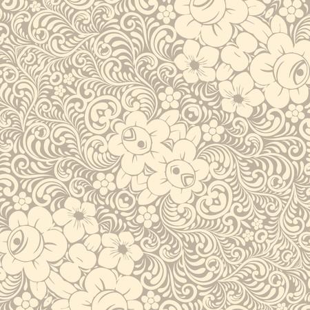 Damask wallpaper - illustration Vector