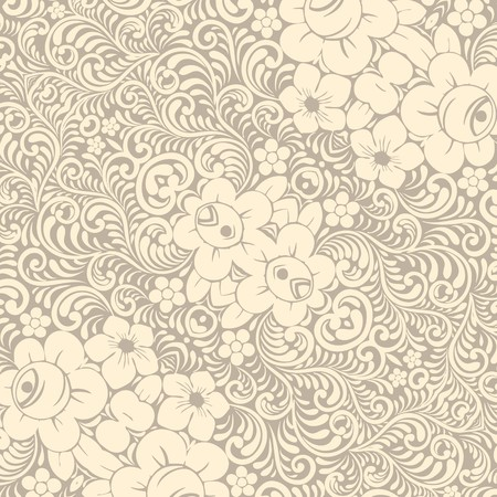 Damask wallpaper - illustration Vector