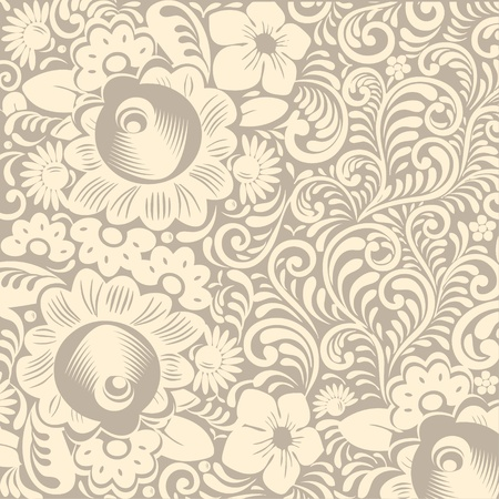 Seamless Damask wallpaper - vector Vector