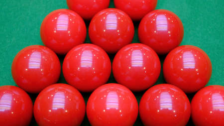 snooker balls: Snooker balls and table close-up