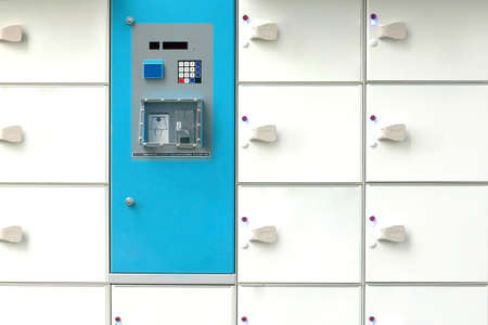 Paid locker rental service in Japan Banco de Imagens