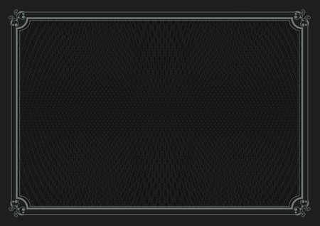 a4: A4 size certificate black background