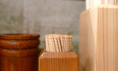 toothpick: Wooden toothpick and chopsticks