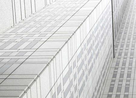 일본 도쿄 비즈니스 빌딩 근접 촬영
