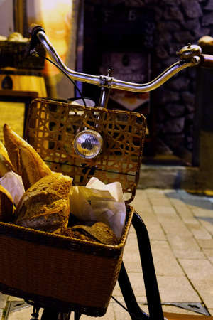 using senses: Bicycle and Bread for outdoor decoration