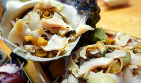 turbo: Japanese seafood turbo marmoratus in restaurant