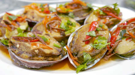 Abalone ormer seafood meal