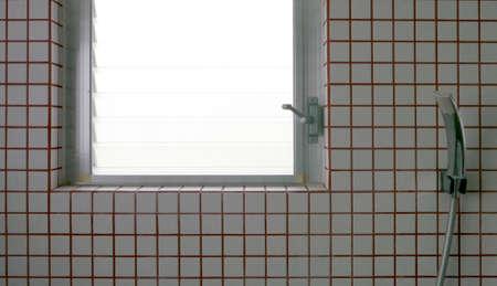 bathroom tile: shower tile in bathroom Stock Photo