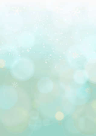 A4 mint green gradient winter christmas background Banco de Imagens