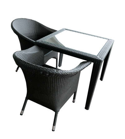 two chairs: Outdoor cafe furnitures - two chairs and coffee table