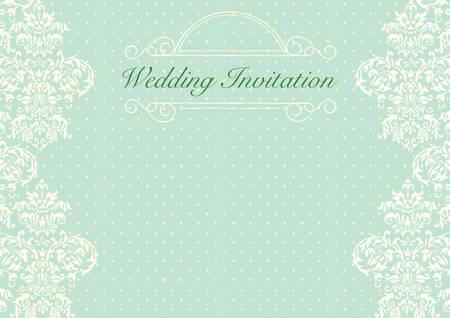 Mint green wedding invitation background Stock Vector - 49154722